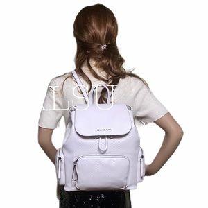 Michael Kors Abbey Vegan Faux Leather Optic White